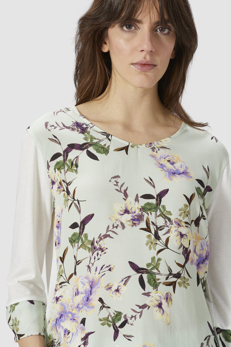 Long-sleeved top with floral print