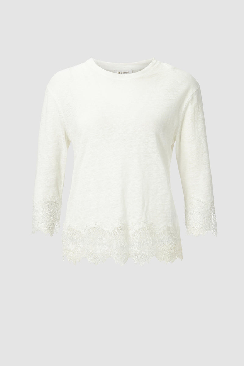 Long-sleeved top with lace details