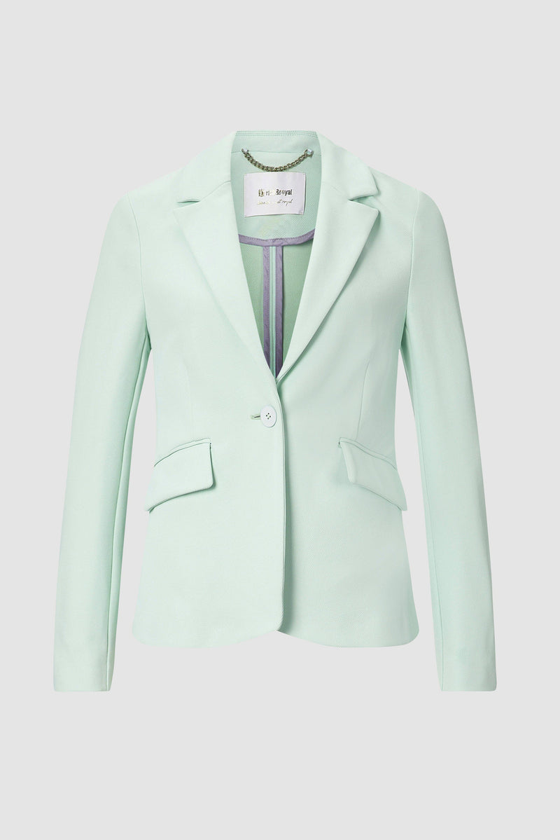 Tailored gabardine blazer