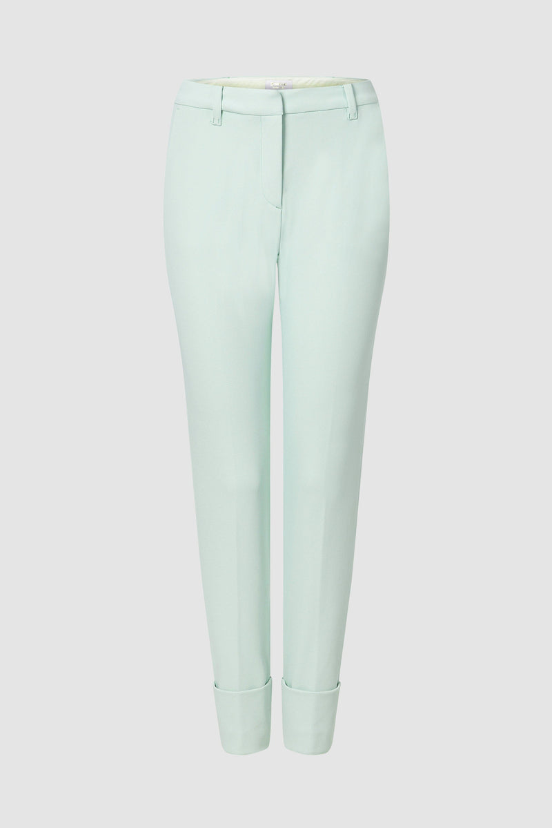 Narrow gabardine trousers