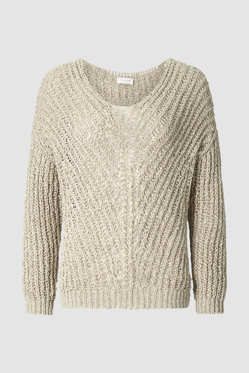 Oversized jumper in structured knit