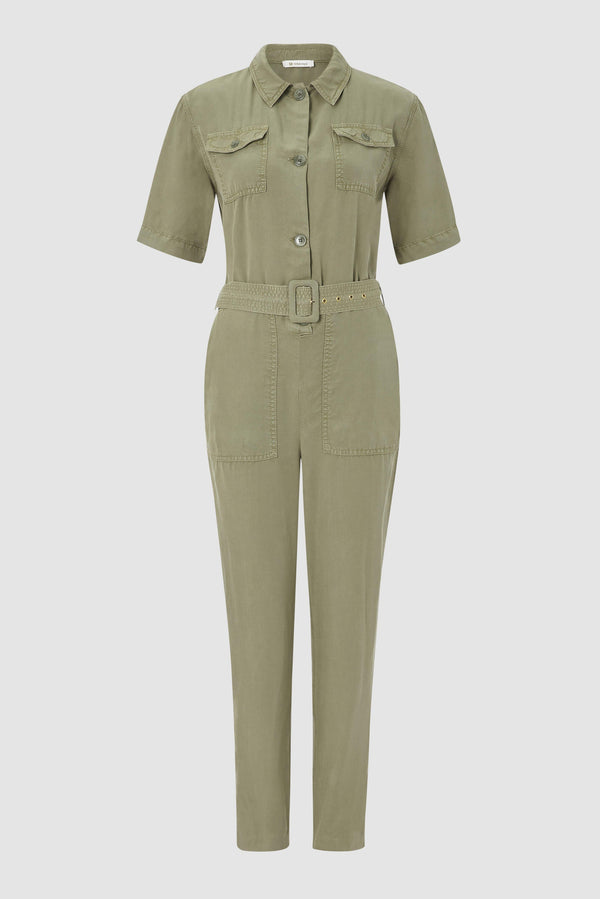 Utility-look jumpsuit