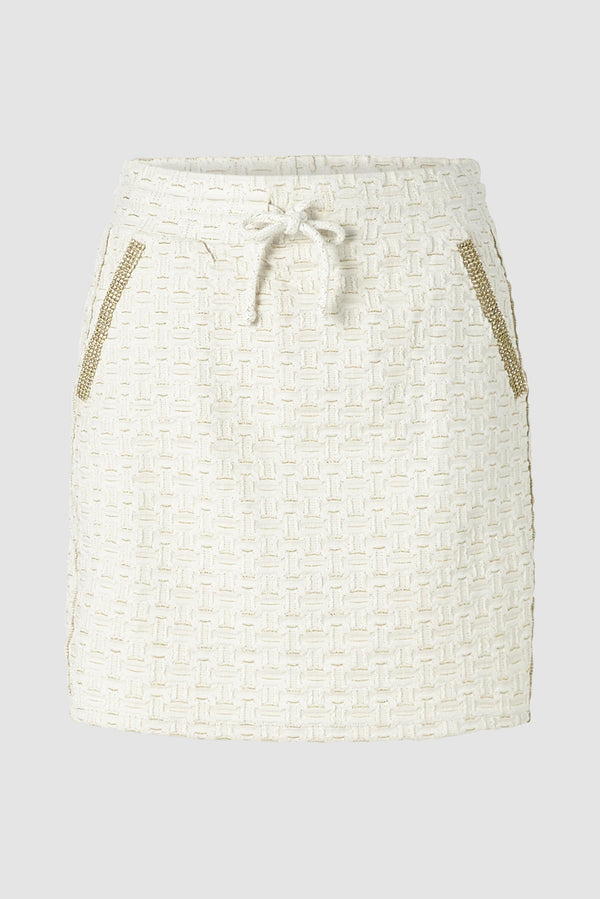 Mini skirt with lurex