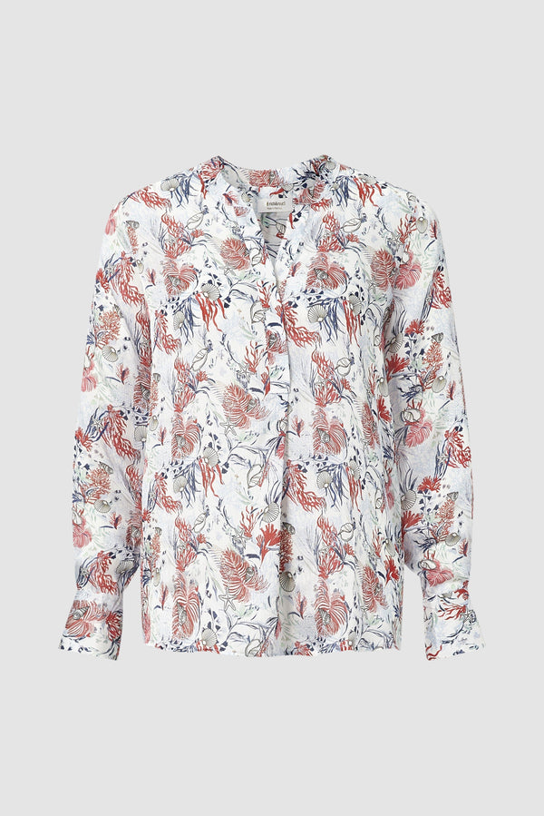 Delicate printed blouse