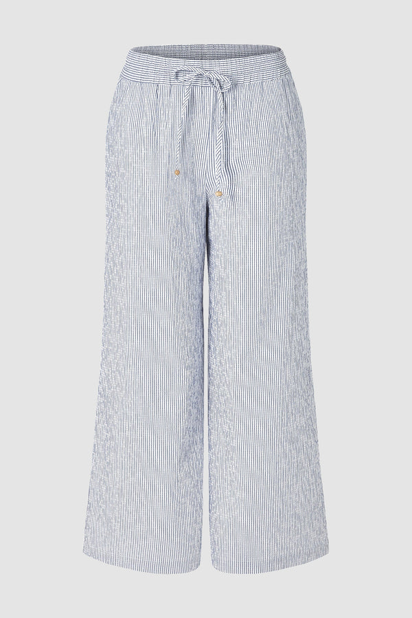 Striped wide-legged trousers