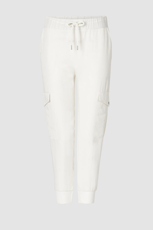 Lyocell jogger-style trousers