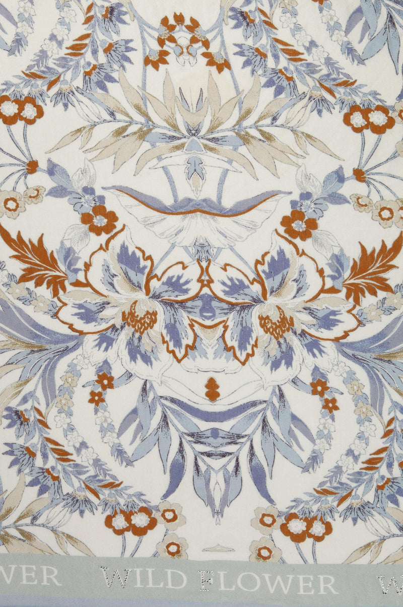 Rich & Royal - Scarf with floral print - detail view