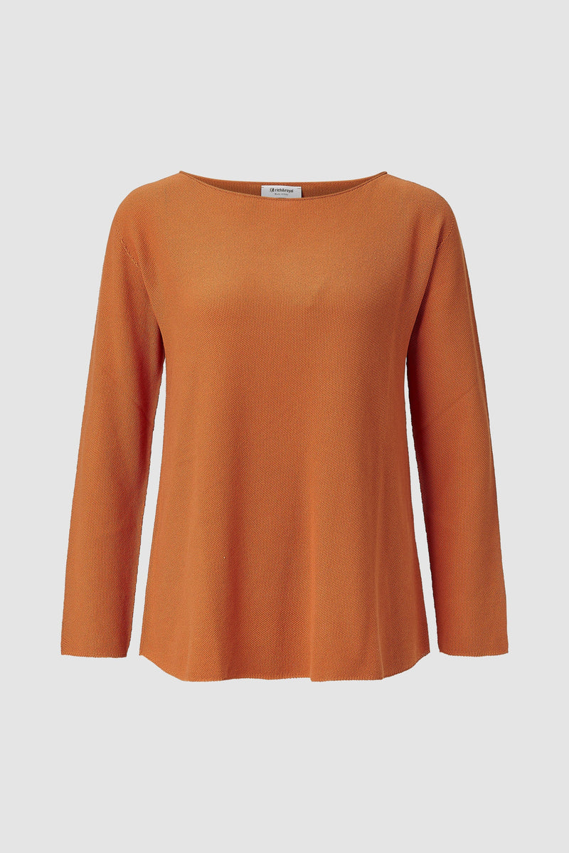 Rich & Royal - Jumper with boat neckline - bust