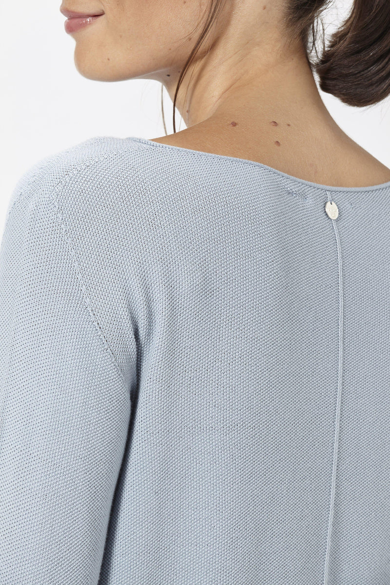 Rich & Royal - Jumper with boat neckline - detail view