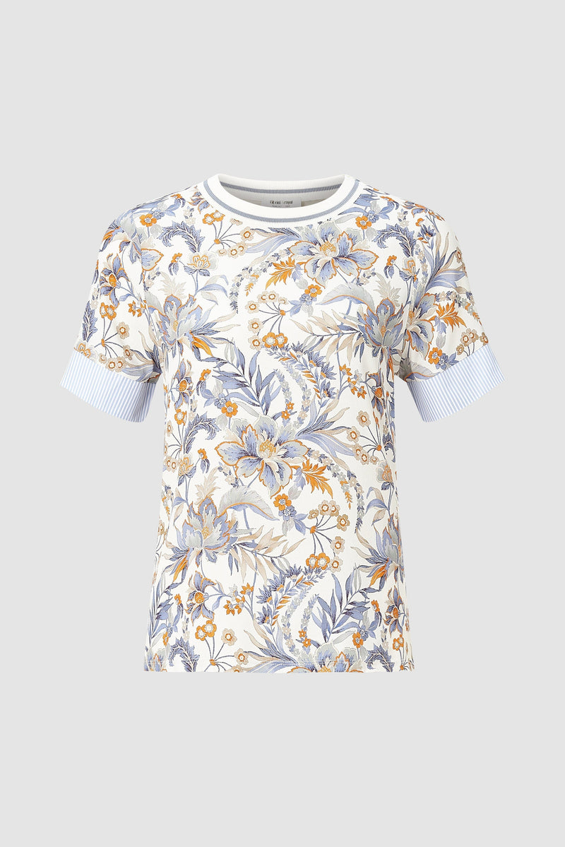 Rich & Royal - T-shirt with floral print - bust