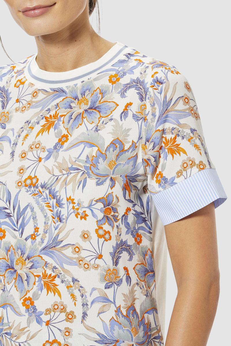Rich & Royal - T-shirt with floral print - detail view