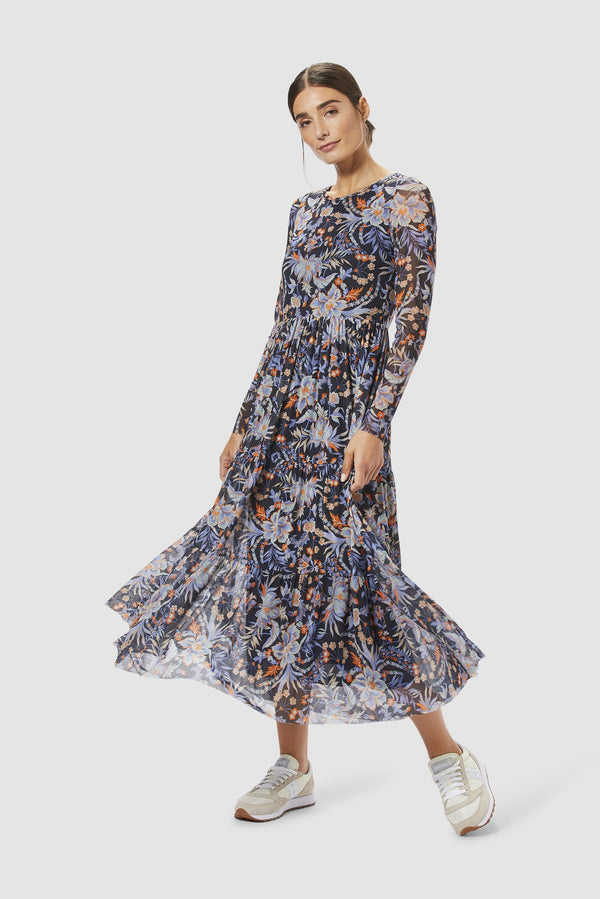 Rich & Royal - Mesh dress with floral design - model image front