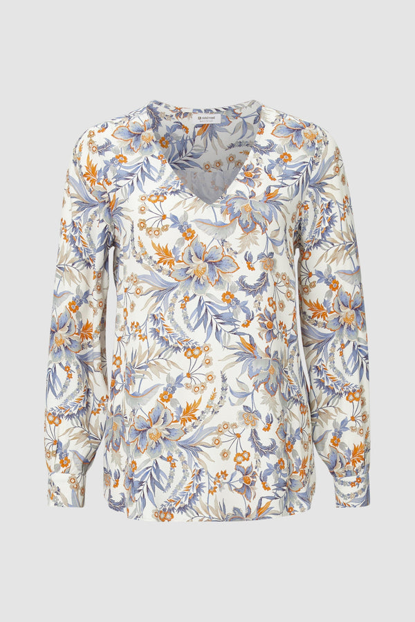 Rich & Royal - Printed V-neck blouse - bust