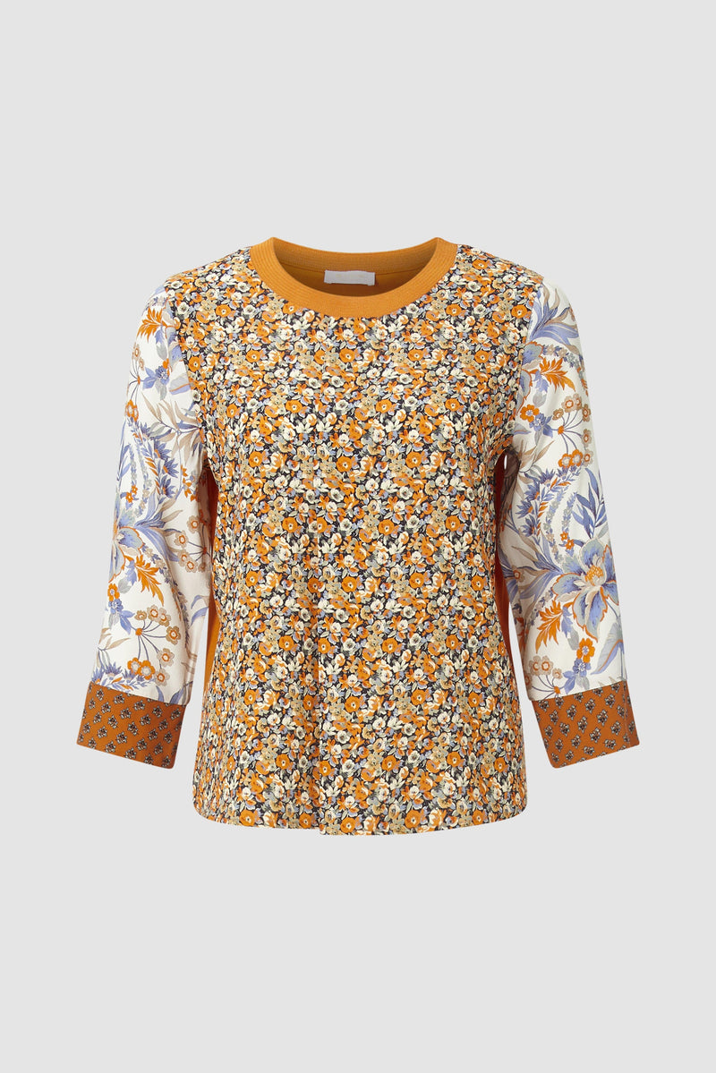 Rich & Royal - Blouse in mix of prints and materials - bust
