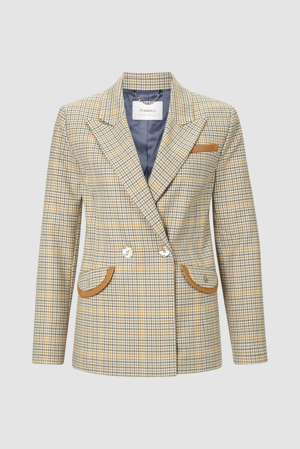 Rich & Royal - Checked blazer with contrasting accents - bust