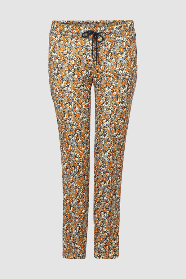 Rich & Royal - Jogger-style floral scuba trousers - bust