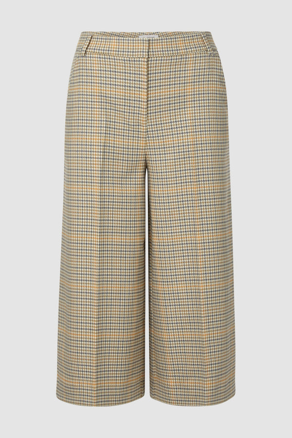 Checked suit-style culottes