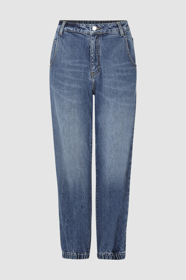 Rich & Royal - Denim jogger-style trousers - bust
