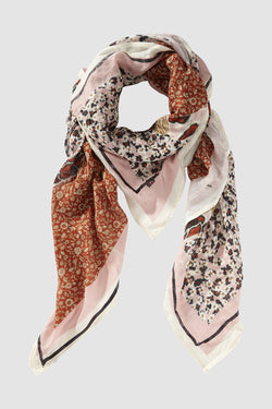 Rich & Royal - Scarf in floral mix of patterns - bust