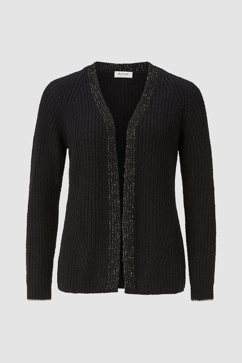 Rich & Royal - Cardigan with lurex details - bust