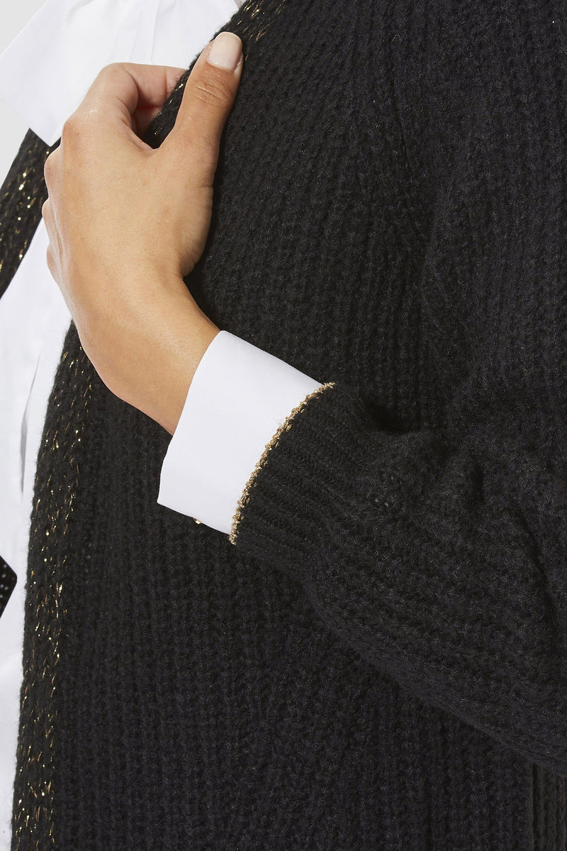 Rich & Royal - Cardigan with lurex details - detail view
