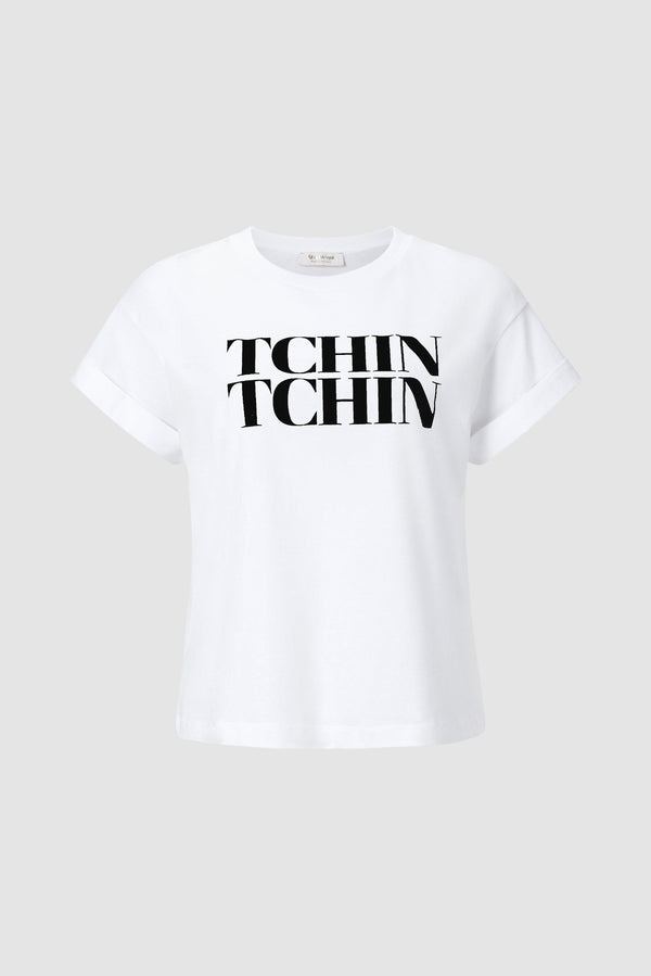 Rich & Royal - T-shirt with TCHIN-TCHIN print - bust