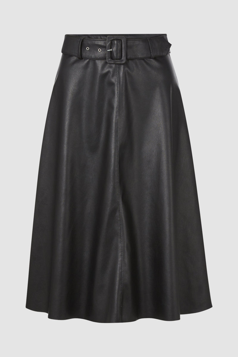 Rich & Royal - Vegan leather skirt - bust