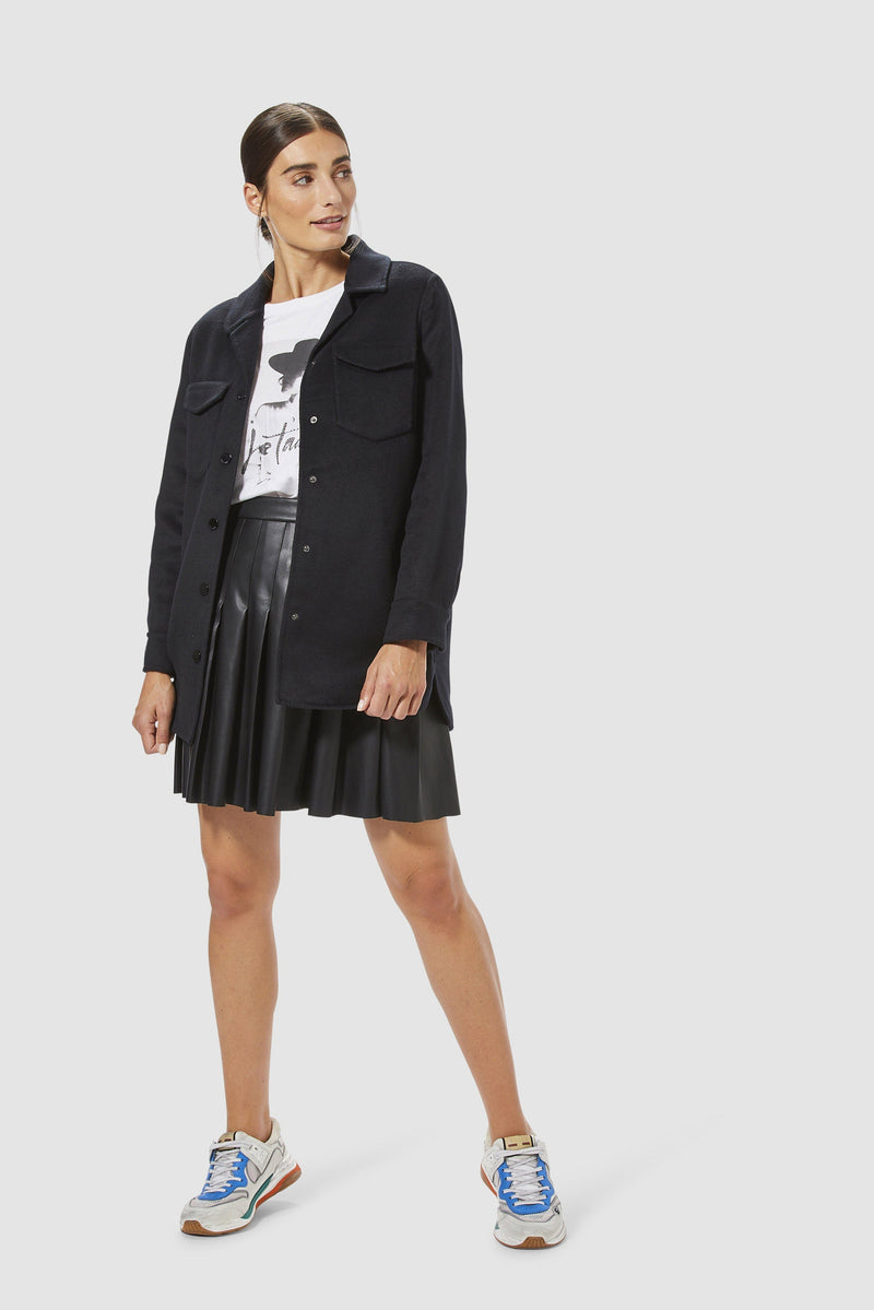 On-trend shirt jacket