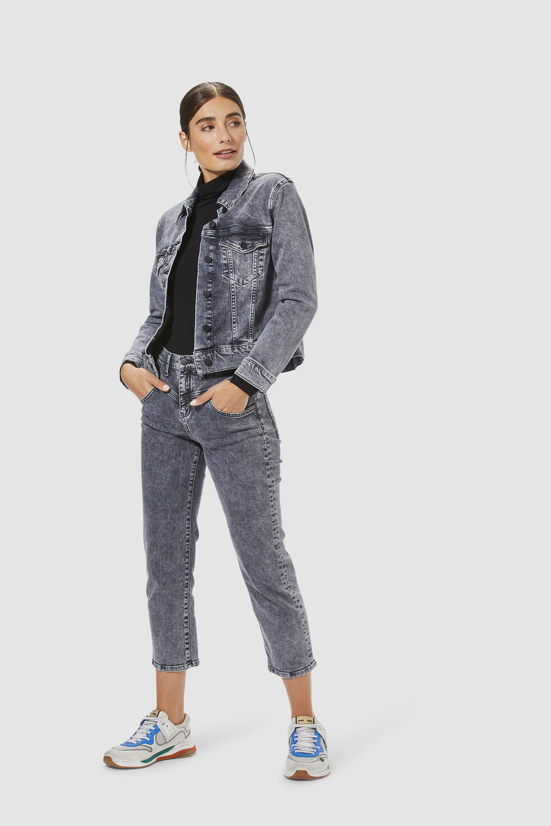 Rich & Royal - Classic denim jacket - model image front