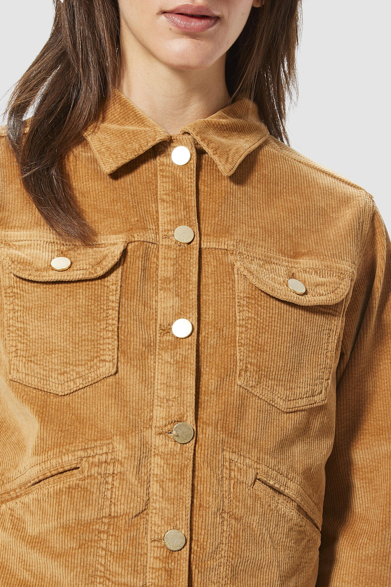 Rich & Royal - Corduroy jacket with metal buttons - detail view