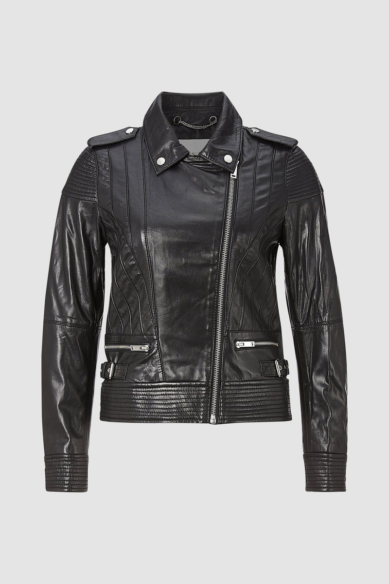 Rich & Royal - Biker jacket with piping - bust