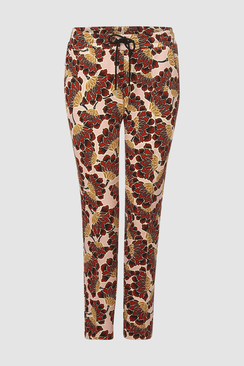 Rich & Royal - Scuba trousers with floral print - bust