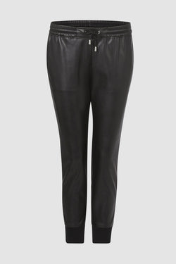 Leisure trousers in vegan leather