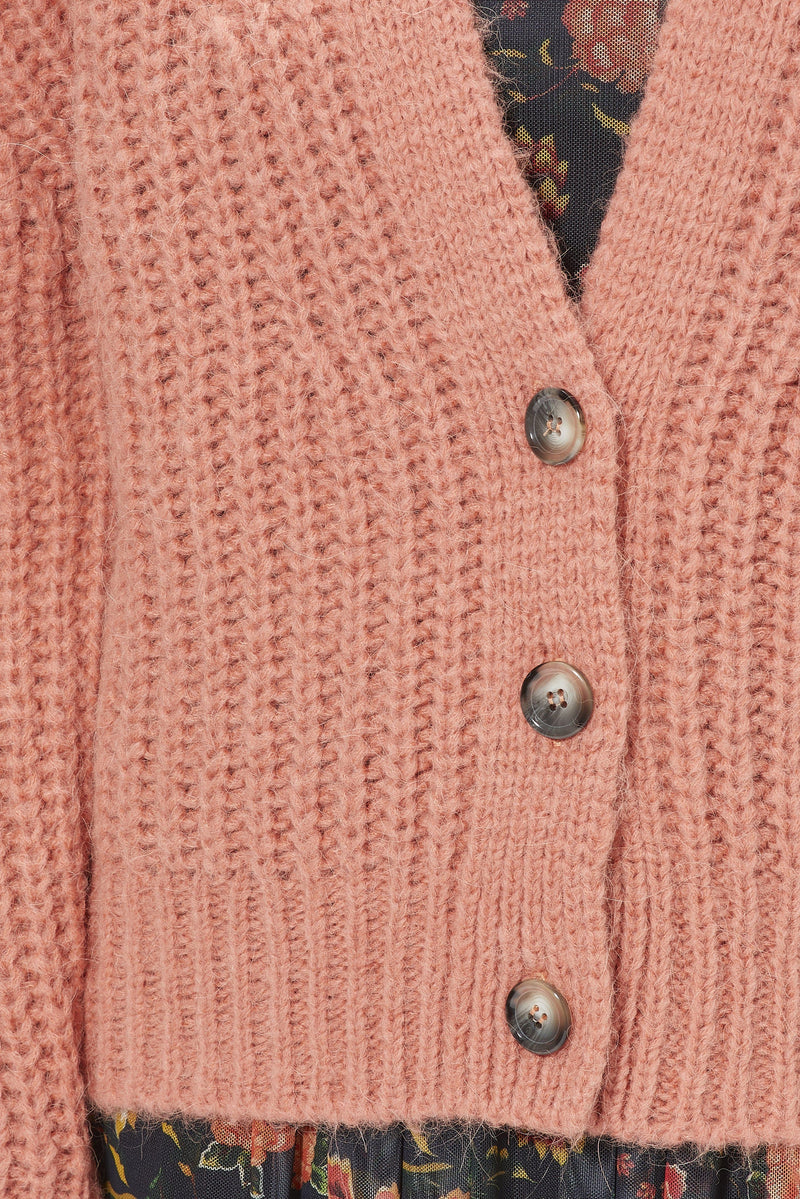 Rich & Royal - Coarse-knit cardigan - detail view