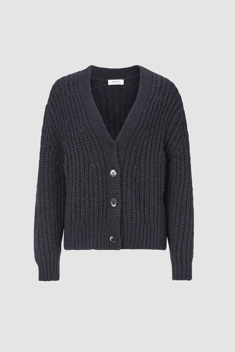Rich & Royal - Coarse-knit cardigan - bust
