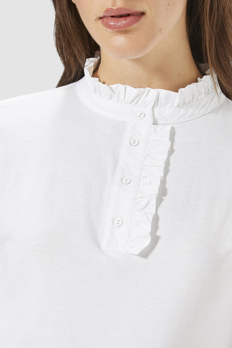 Rich & Royal - Long-sleeved top with frills - detail view