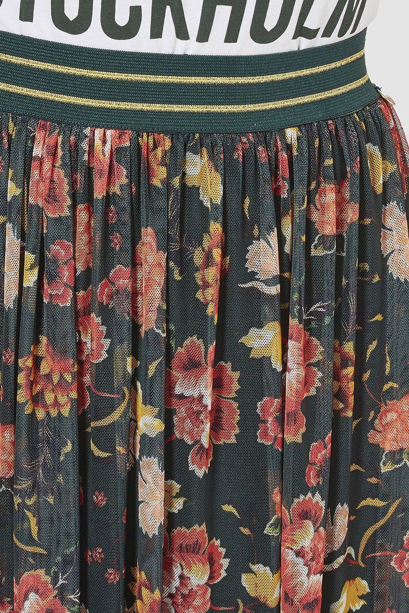 Rich & Royal - Mesh skirt with floral design - detail view