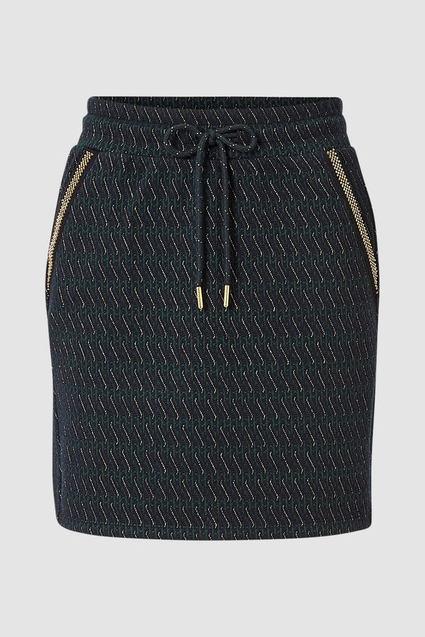 Rich & Royal - Mini skirt with lurex details - bust