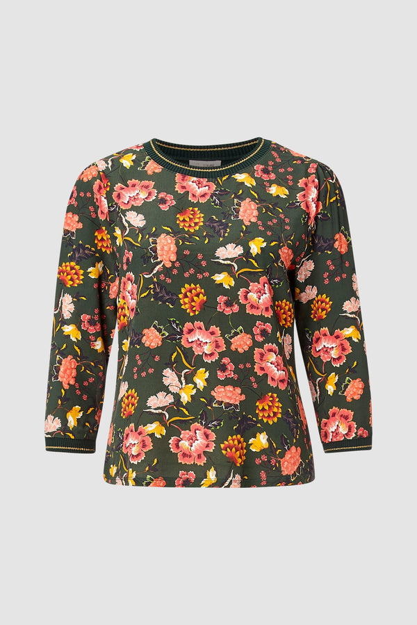 Blouse with floral design