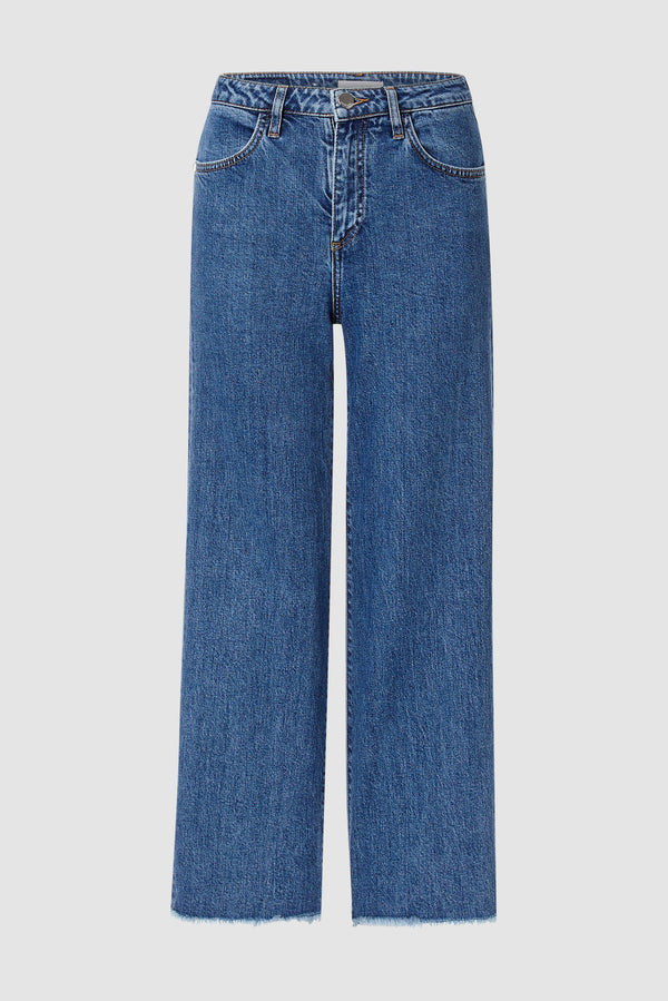 Rich & Royal - Straight-cut jeans with fringed hem - bust