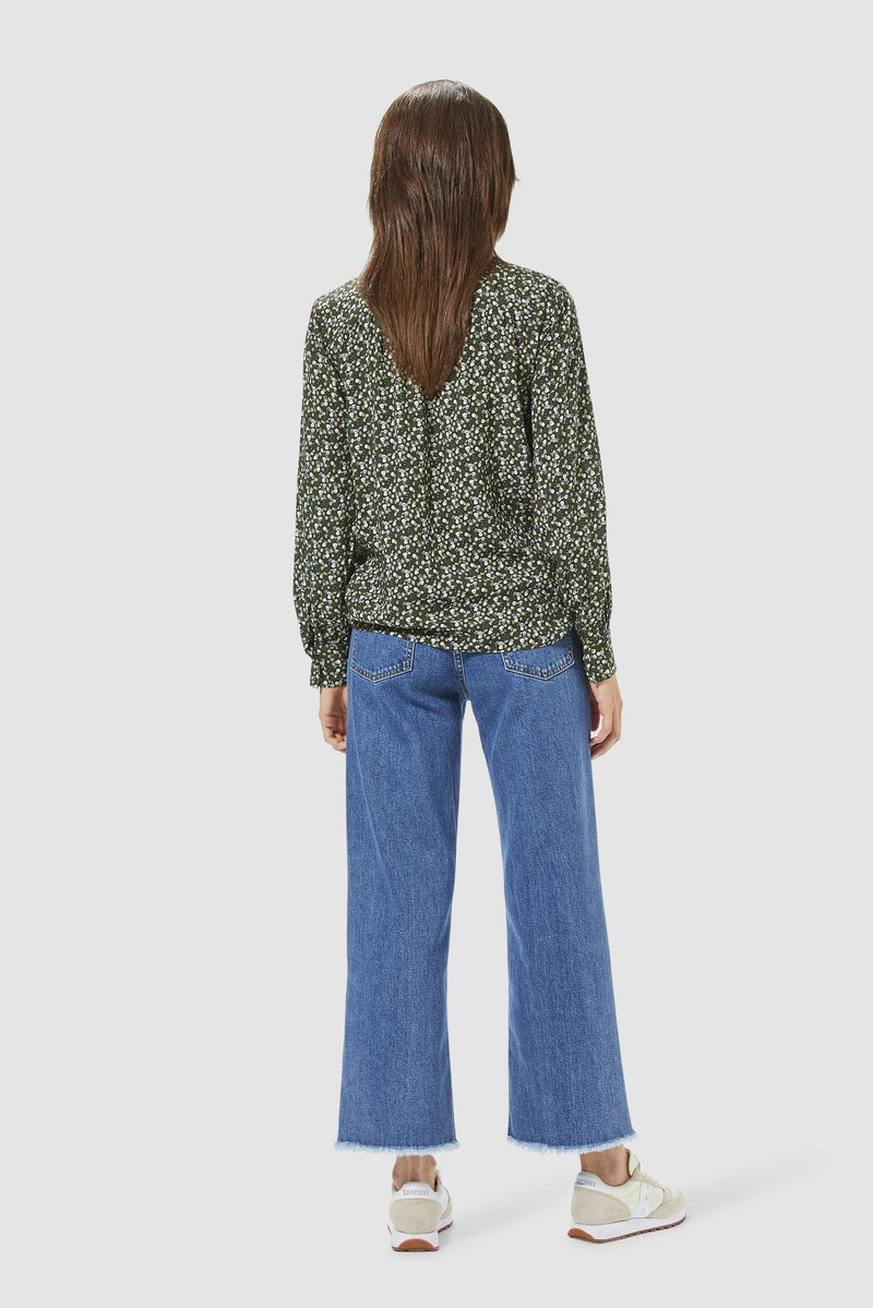 Rich & Royal - Straight-cut jeans with fringed hem - model image back