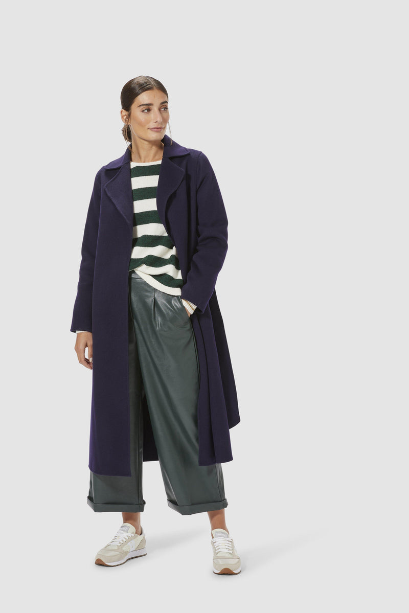 Rich & Royal - Fake leather culottes - model imag front