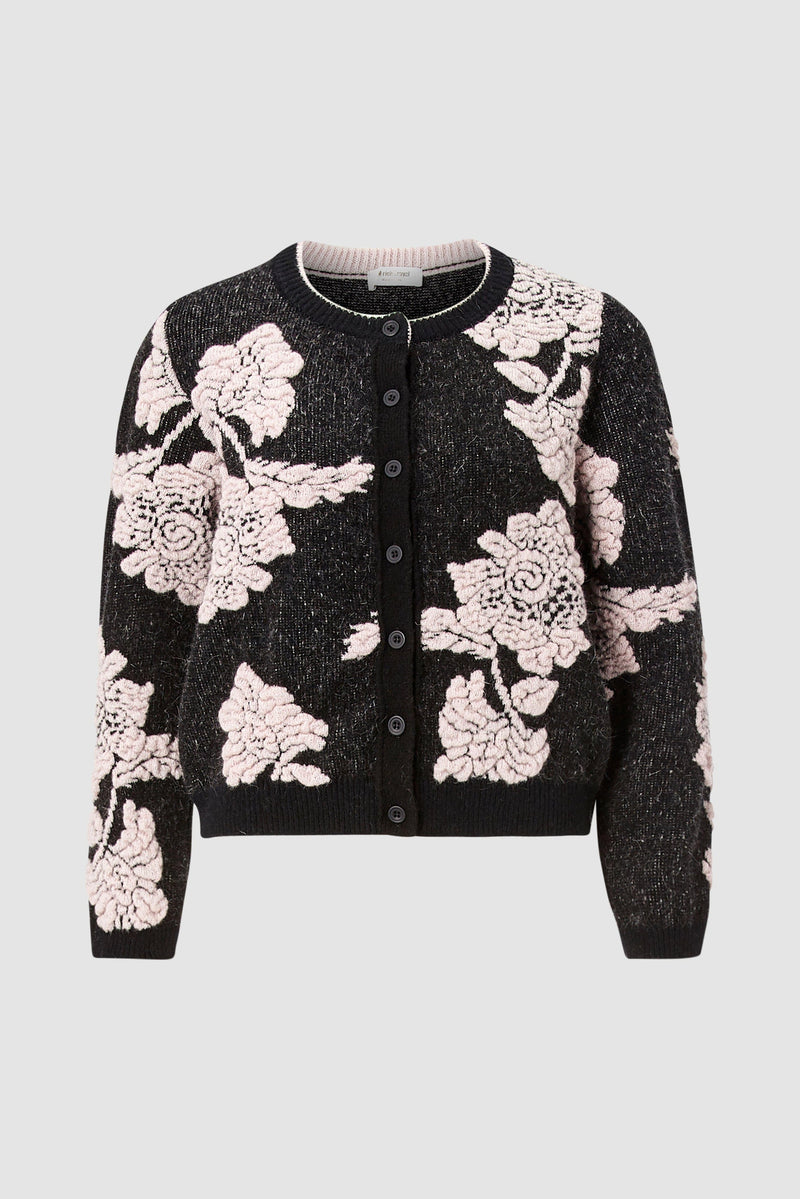 Rich & Royal - Cardigan with floral details - bust