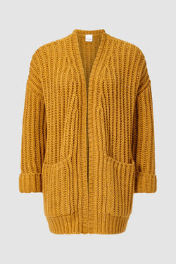 Rich & Royal - Chunky knit cardigan with pockets - bust