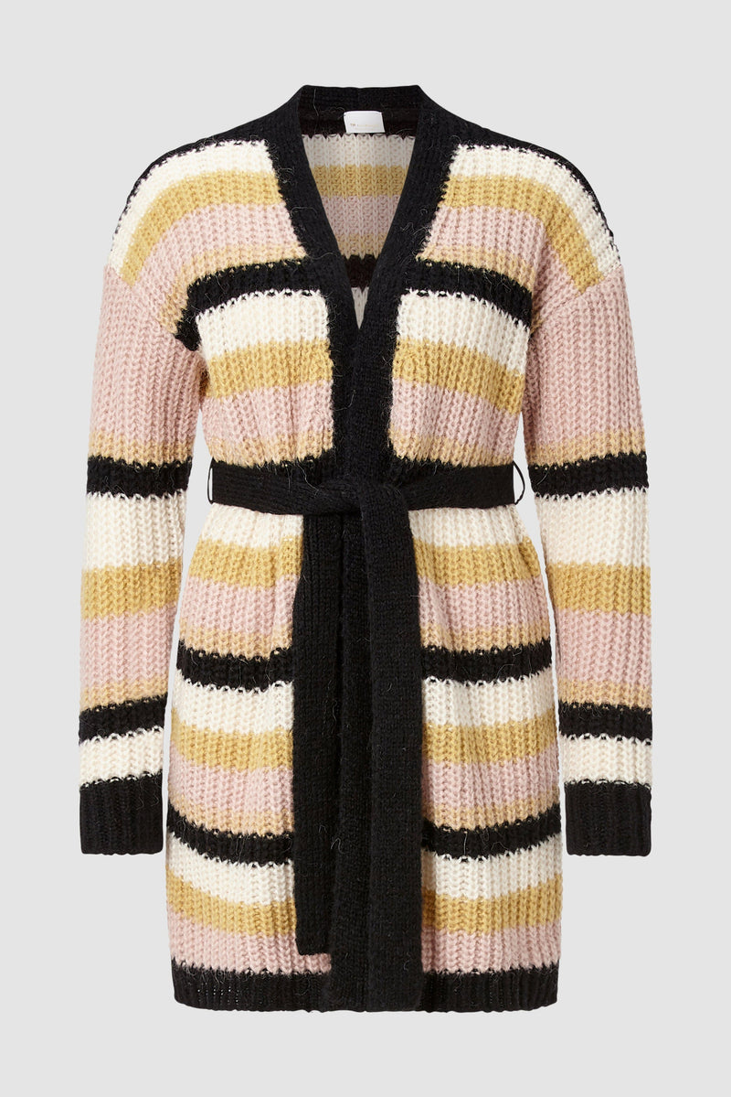 Rich & Royal - Long striped cardigan - bust