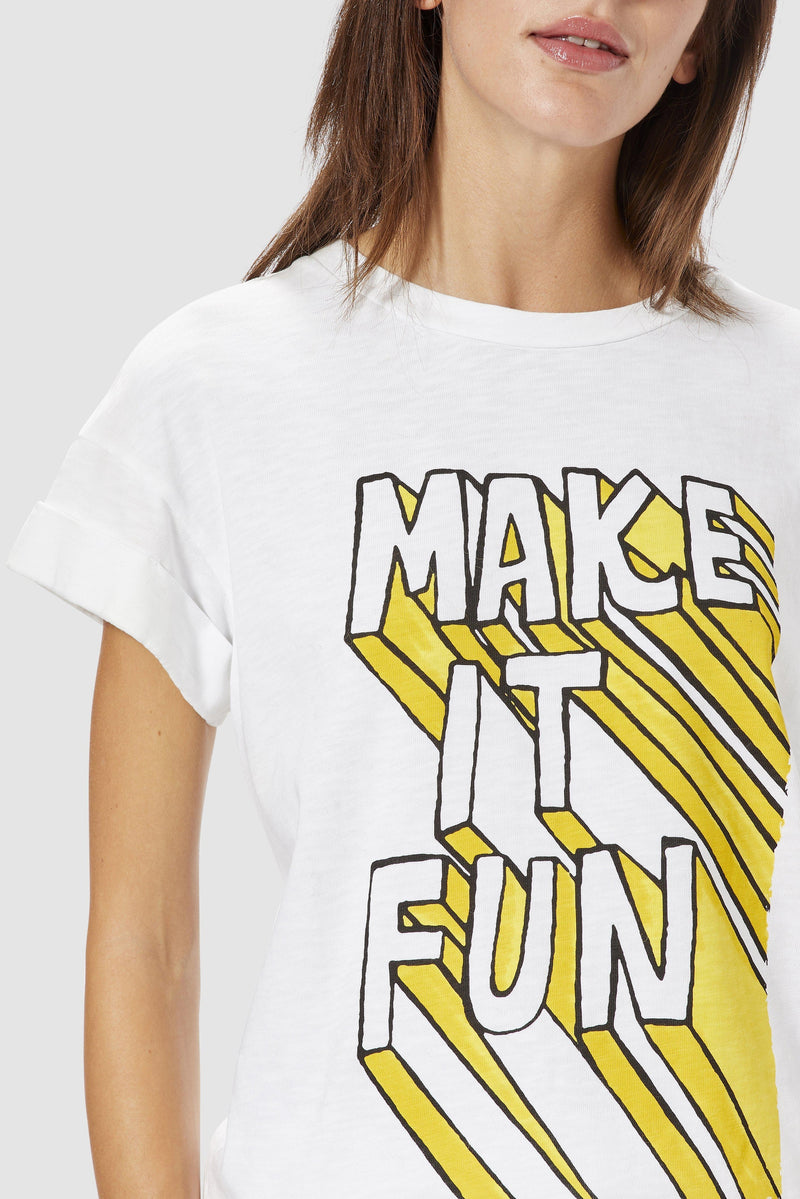 Rich & Royal - MAKE IT FUN T-shirt - detail view