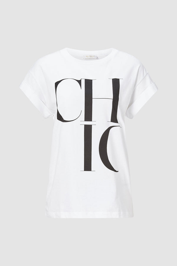 Rich & Royal - T-shirt with CHIC logo - bust