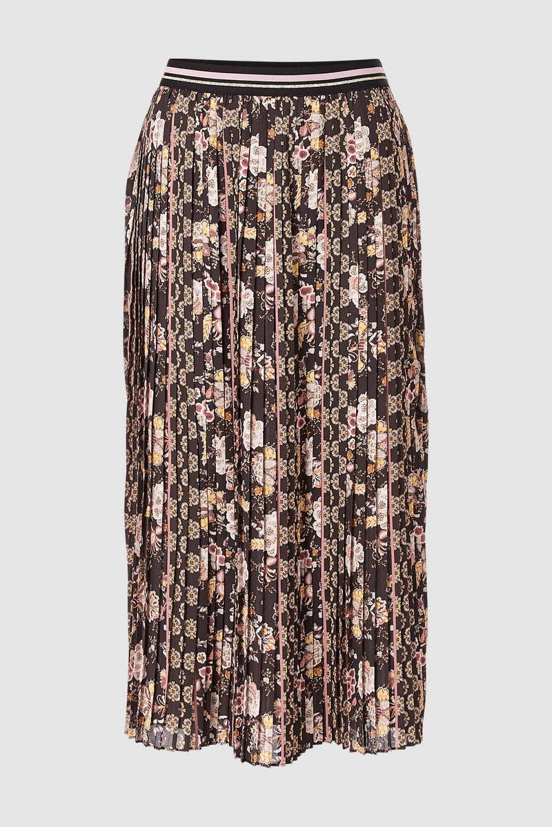Rich & Royal - Pleated skirt with print mix - bust