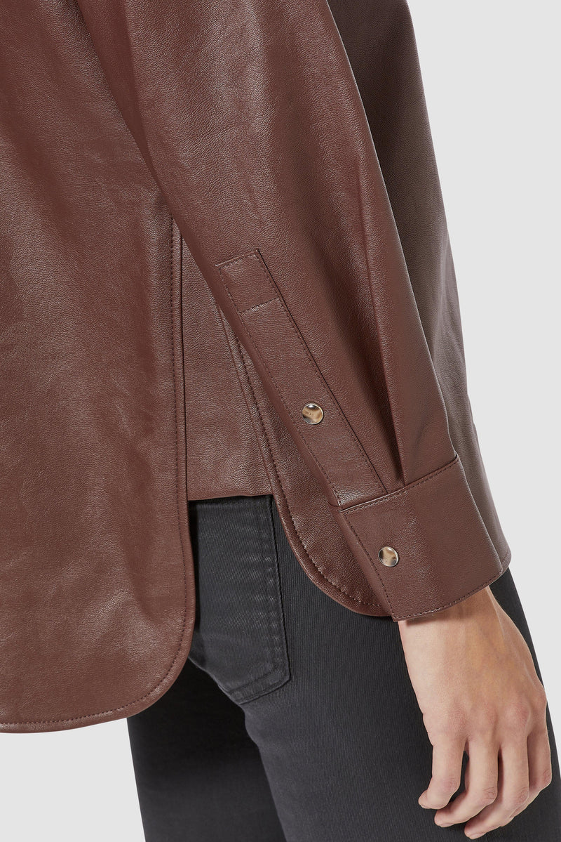 Rich & Royal - Oversized fake leather blouse - detail view