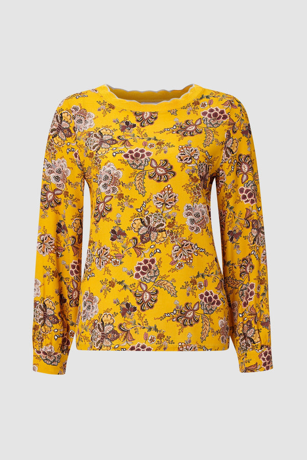Rich & Royal - Top with floral print - bust